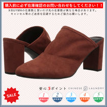 CHINESE LAUNDRY Round Toe Casual Style Plain Chunky Heels Heeled Sandals