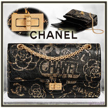 CHANEL Chain Other Animal Patterns Leather Elegant Style Handbags