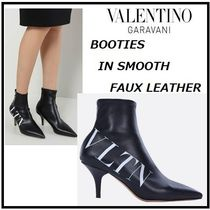 VALENTINO Leather Elegant Style High Heel Boots