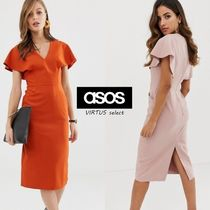 ASOS V-Neck Plain Medium Party Style Dresses