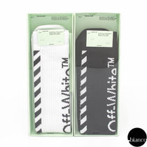 Off-White Stripes Unisex Street Style Cotton Undershirts & Socks