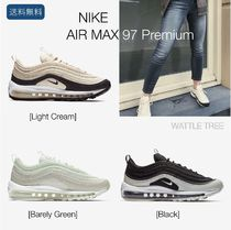 Nike AIR MAX 97 Plain Toe Rubber Sole Lace-up Casual Style Unisex
