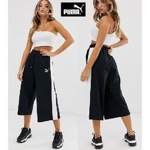 PUMA Stripes Casual Style Street Style Culottes & Gaucho Pants