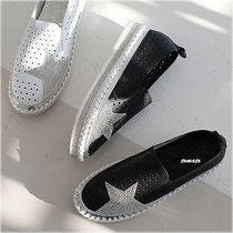 Star Platform Round Toe Casual Style Faux Fur Slip-On Shoes