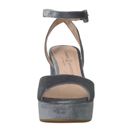 CHINESE LAUNDRY Open Toe Casual Style Plain Chunky Heels Heeled Sandals