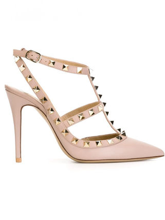 VALENTINO More Pumps & Mules Studded Leather Pumps & Mules 6