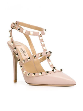 VALENTINO More Pumps & Mules Studded Leather Pumps & Mules 7