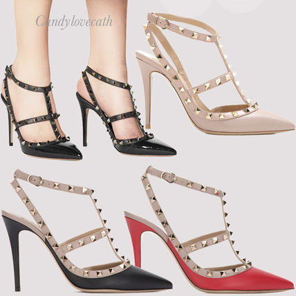 VALENTINO More Pumps & Mules Studded Leather Pumps & Mules