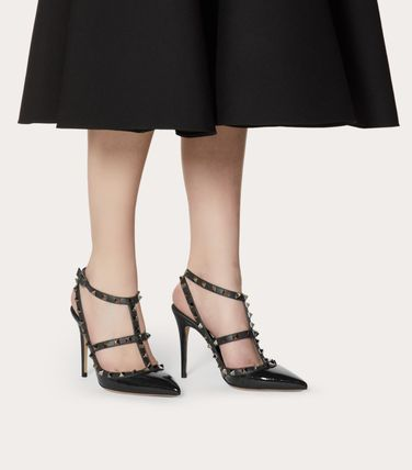VALENTINO More Pumps & Mules Studded Leather Pumps & Mules 8