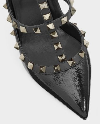 VALENTINO More Pumps & Mules Studded Leather Pumps & Mules 10