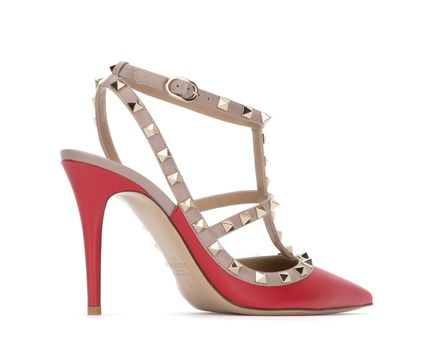 VALENTINO More Pumps & Mules Studded Leather Pumps & Mules 11