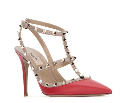 VALENTINO More Pumps & Mules Studded Leather Pumps & Mules 12