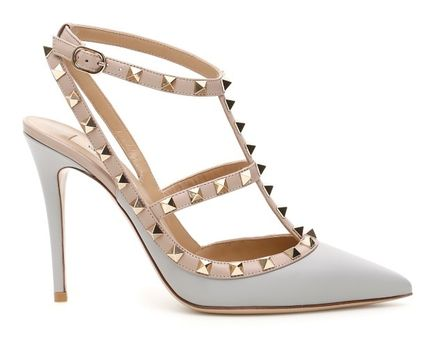 VALENTINO More Pumps & Mules Studded Leather Pumps & Mules 18