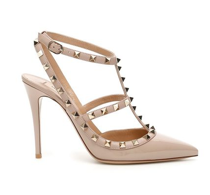 VALENTINO More Pumps & Mules Studded Leather Pumps & Mules 19