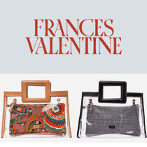 FRANCIS VALENTINE Casual Style Blended Fabrics Plain Crystal Clear Bags