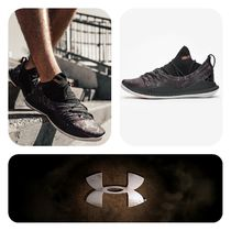 UNDER ARMOUR CURRY Unisex Blended Fabrics Street Style Plain Sneakers