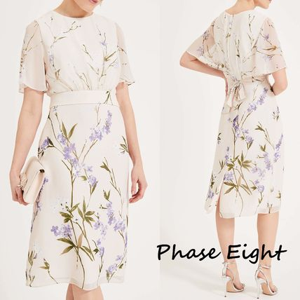 Flower Patterns Medium Short Sleeves Party Style Lace