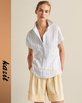 Massimo Dutti Stripes Casual Style Linen Shirts & Blouses