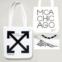 Off-White Unisex Street Style Collaboration Totes