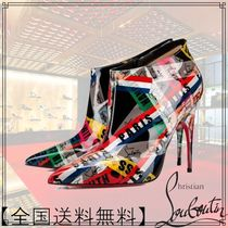 Christian Louboutin Leather Pin Heels High Heel Boots