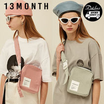 13MONTH Casual Style Unisex Street Style Plain Shoulder Bags