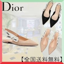 Christian Dior JADIOR Casual Style Blended Fabrics Plain Block Heels Sandals