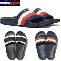 Tommy Hilfiger Casual Style Unisex Sport Sandals PVC Clothing Flat Sandals