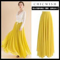 Chicwish Casual Style Maxi Plain Long Maxi Skirts