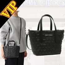 Jimmy Choo Star Studded 2WAY Leather Elegant Style Totes