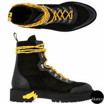 Off-White Plain Toe Mountain Boots Unisex Street Style Plain