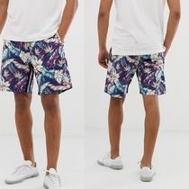 REPLAY Flower Patterns Unisex Street Style Oversized Joggers Shorts