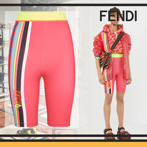 FENDI Short Stripes Casual Style Blended Fabrics Shorts