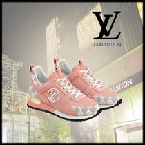Louis Vuitton DAMIER AZUR Casual Style Blended Fabrics Low-Top Sneakers