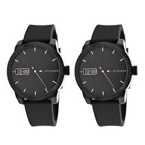 Tommy Hilfiger Casual Style Unisex Silicon Round Quartz Watches