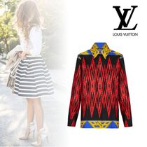 Louis Vuitton Silk Long Sleeves Elegant Style Shirts & Blouses