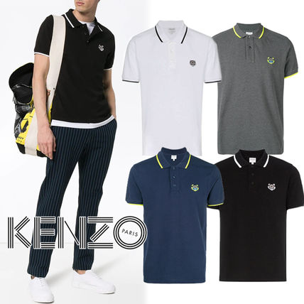 KENZO Polos Pullovers Street Style Cotton Short Sleeves Polos
