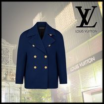 Louis Vuitton Casual Style Wool Medium Peacoats