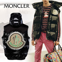 MONCLER Studded Street Style Plain Down Jackets