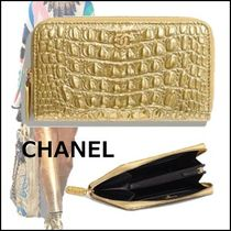 CHANEL 2019-20AW CLASSIC ZIP WALLET gold wallets