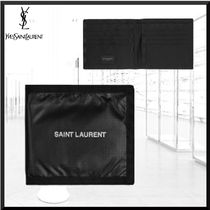 Saint Laurent Nylon Plain Folding Wallets