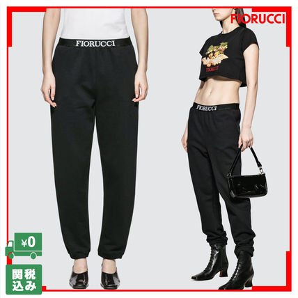 Casual Style Street Style Plain Long Cropped & Capris Pants