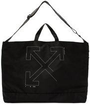 Off-White Unisex Street Style A4 Totes