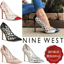Nine West Blended Fabrics Plain Pin Heels Party Style With Jewels