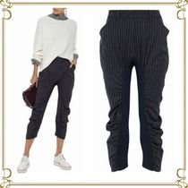 Stella McCartney Stripes Casual Style Wool Long Skinny Pants