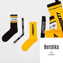 Bershka Street Style Plain Cotton Undershirts & Socks