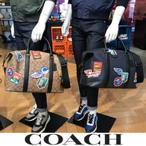 Coach Blended Fabrics A4 2WAY Boston Bags