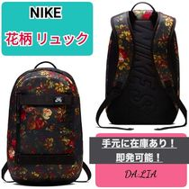 Nike Flower Patterns Unisex Street Style A4 Backpacks