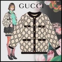 GUCCI Monogram Tweed Medium Oversized Jackets