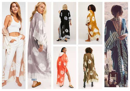 Tie-dye Cropped Long Gowns Cardigans