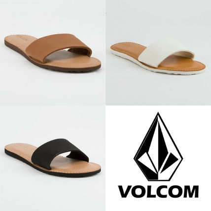 Open Toe Plain Slippers Sandals